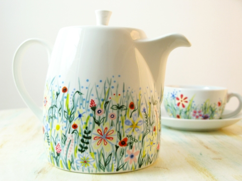 wild flower teapot5